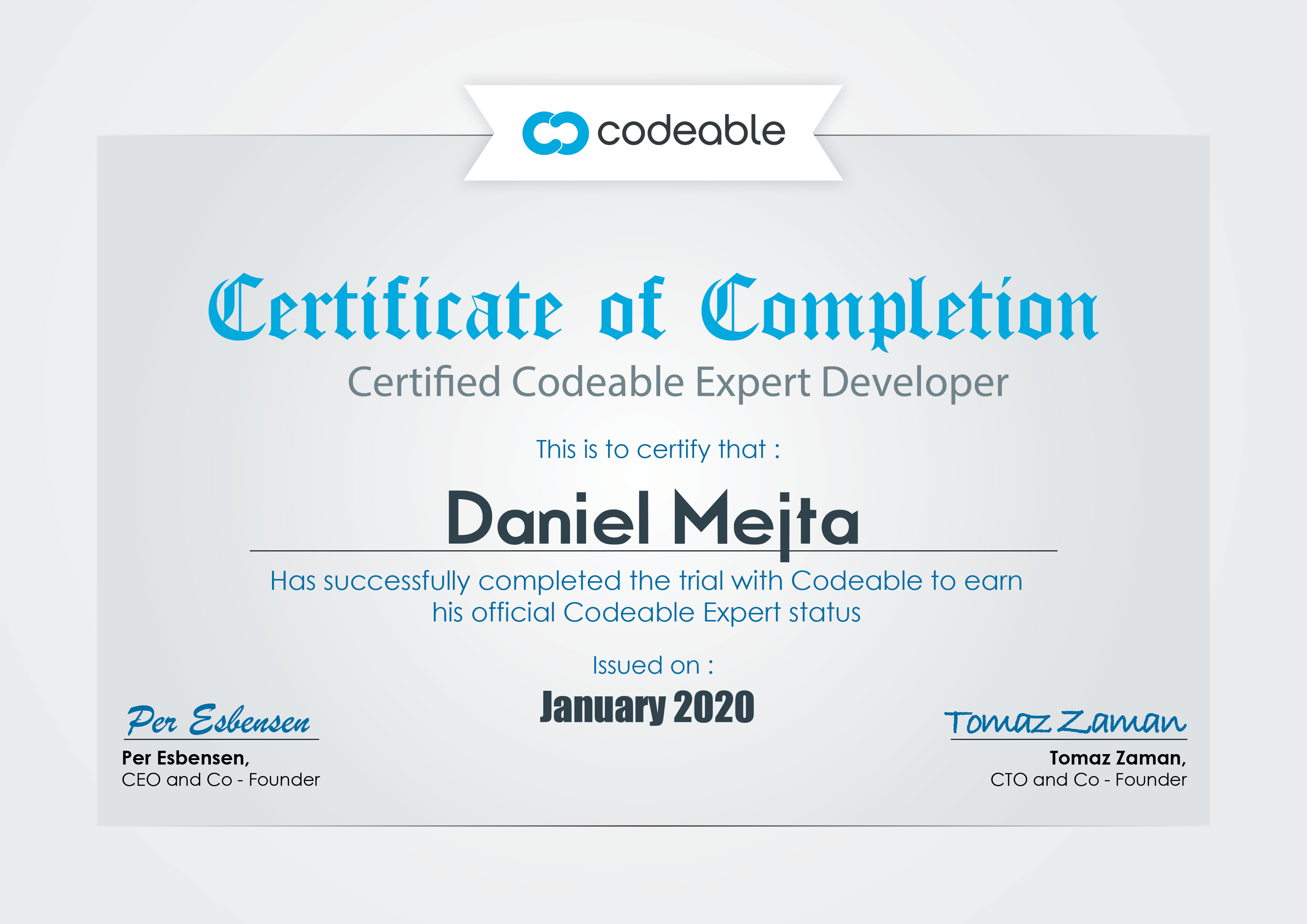Daniel Mejta - Certified Codeable Expert Developer